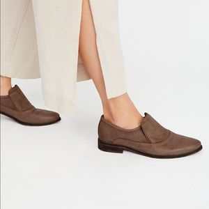 Free People Brady Slip On Loafers Brown 37.5 new